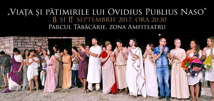 """""""Viața și pătimirile lui Ovidius Publius Naso"""", în parcul Tăbăcărie"""