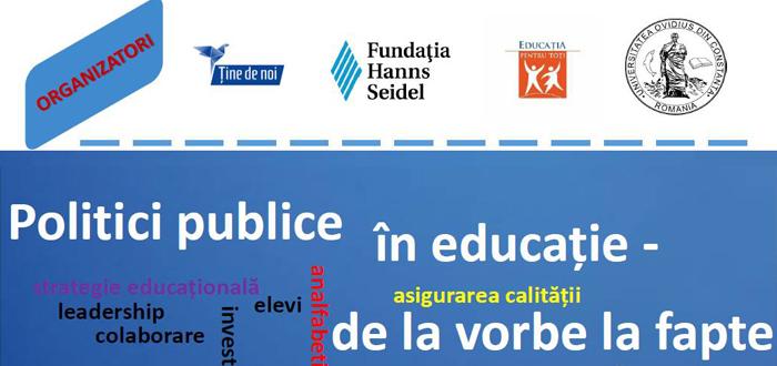 """Seminar şi dezbatere, """"Politici publice în educație – de la vorbe la fapte"""""""