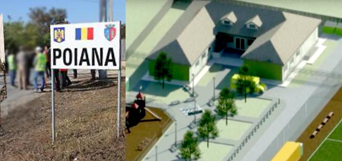 Şcoală nouă, cu grădiniţă şi teren de fotbal, construită de Primăria Ovidu în satul Poiana