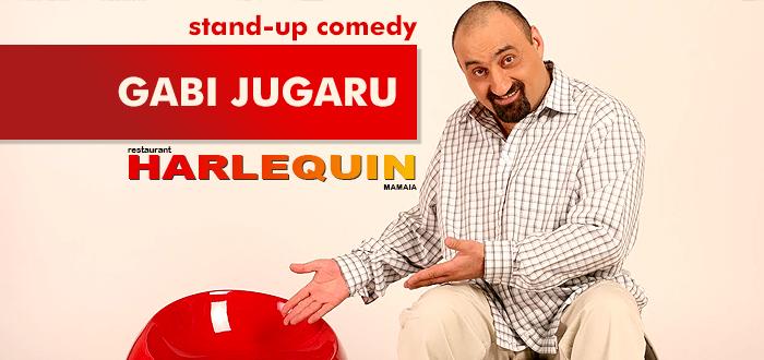 Seară de party, karaoke şi stand-up comedy cu GABI JUGARU, la Harlequin