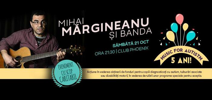 Concert caritabil MIHAI MĂRGINEANU. Campania Music for Autism