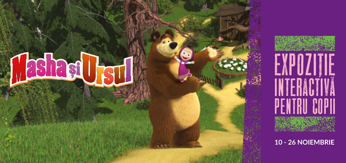 Masha și Ursul – Expoziție interactivă pentru copii, la VIVO