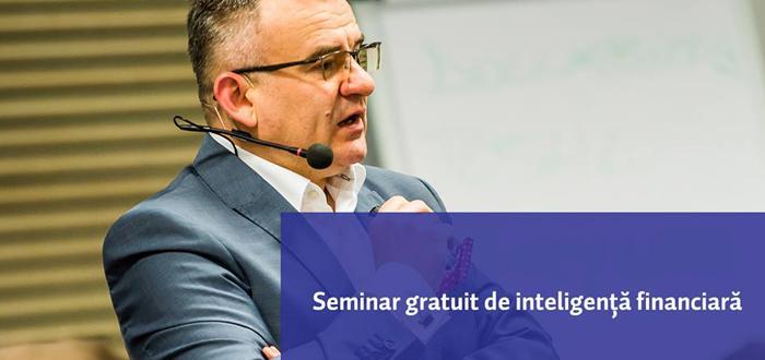 Seminar GRATUIT de educaţie financiară, cu Eusebiu Burcaş