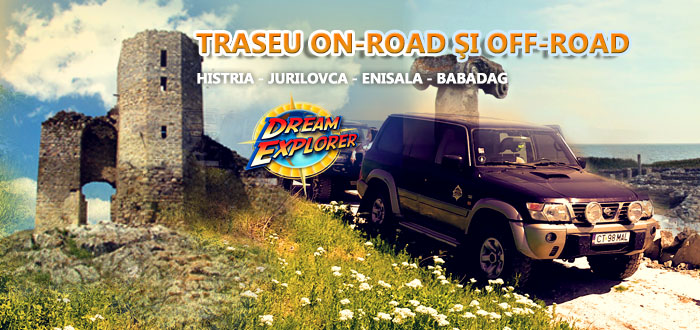 Traseu off-road şi on-road Histria-Jurilovca-Enisala-Babadag, cu Dream Explorer