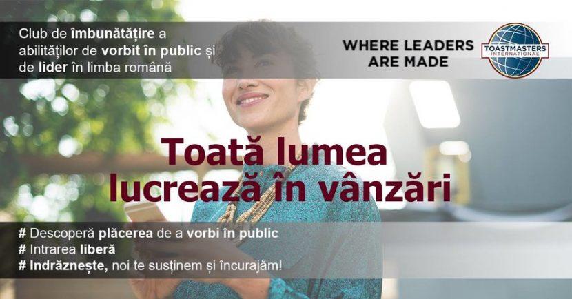 Toastmasters. Seminar gratuit de vorbit în public, la Ibis