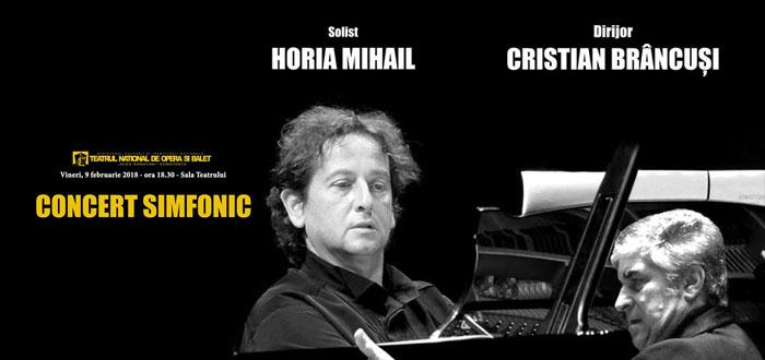"Concert simfonic la TNOB ""Oleg Danovski"" cu Horia Mihail și Cristian Brâncuși"