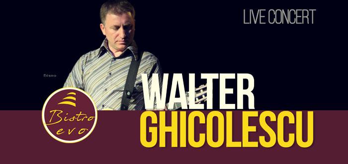 O poezie pentru o melodie! Concert WALTER GHICOLESCU, la Bistro Evo