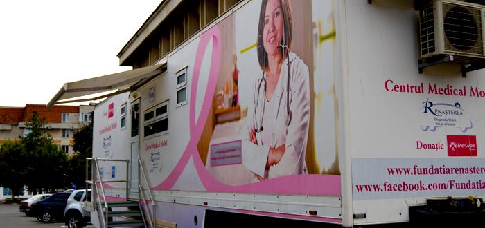 Caravană pentru depistarea GRATUITĂ a cancerului de sân și col uterin