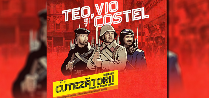Stand-up comedy. TEO, VIO și COSTEL: Cutezătorii, la Constanța