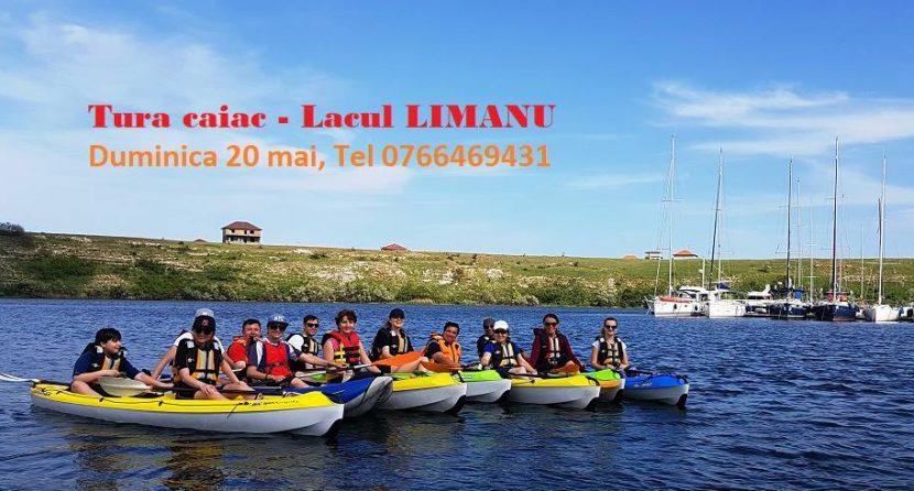 O tură cu caiacul pe lacul Limanu, cu Dream Explorer