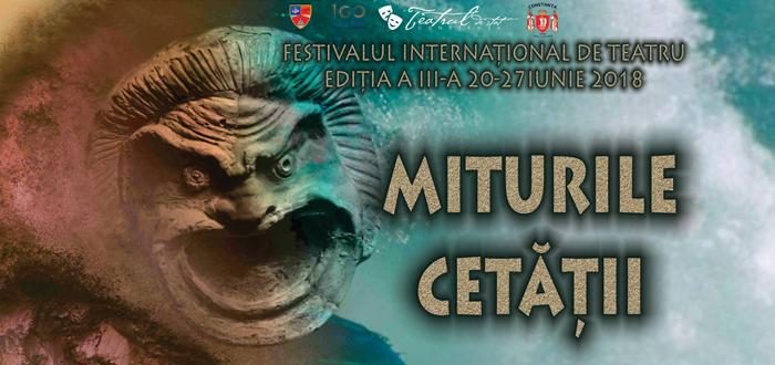 Festivaul de teatru Miturile Cetății 2018. Află programul complet