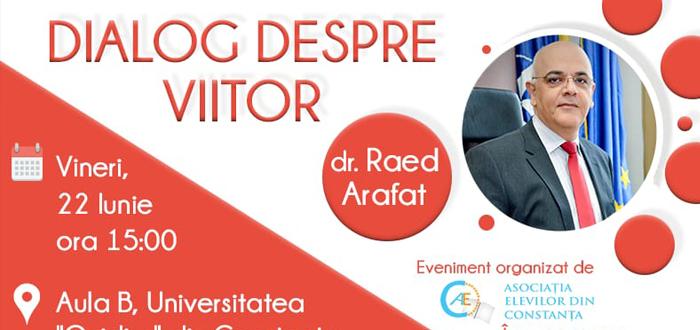"""Raed Arafat vine la Constanța. Va participa la """"Dialog despre Viitor"""", dezbatere organizată de Asociația Elevilor"""