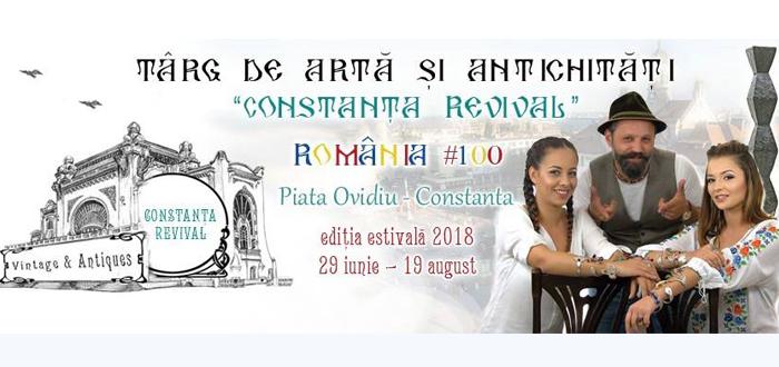 """Târg de Artă și Antichități """"Constanța Revival"""", în Piața Ovidiu"""