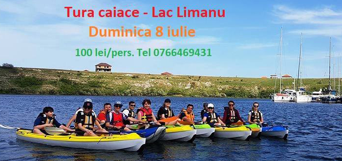 Ești așteptat să dăm o tură de caiace pe lacul Limanu
