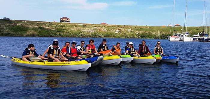 Tură cu caiacele pe lacul Limanu, cu Dream Explorer