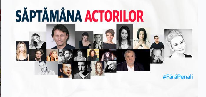 Săptămâna actorilor #FărăPenali. Oameni de cultură din toată țara au strâns semnături pentru demersul Fără Penali în Funcții Publice