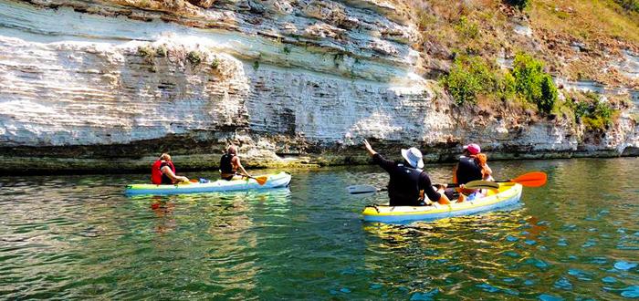 O zi cu caiacul la Cap Kaliakra, pe 1 septembrie, cu Dream Explorer