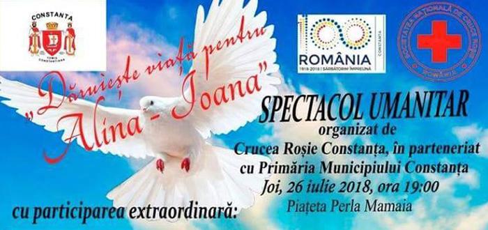 """Concert umanitar în Mamaia. """"Dăruiește viață pentru Alina-Ioana"""""""