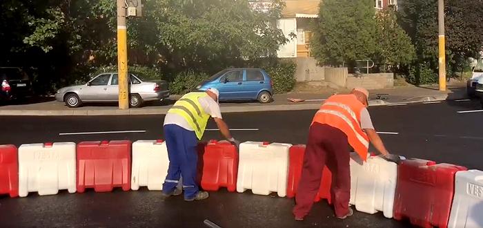 Sens giratoriu nou în Constanța, în zona Brotăcei. VIDEO