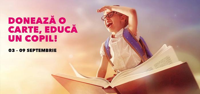 """Campania """"Donează o carte, educă un copil!"""". Dacă ai cărți pe care nu le mai folosești, vino cu ele la VIVO! Constanța"""