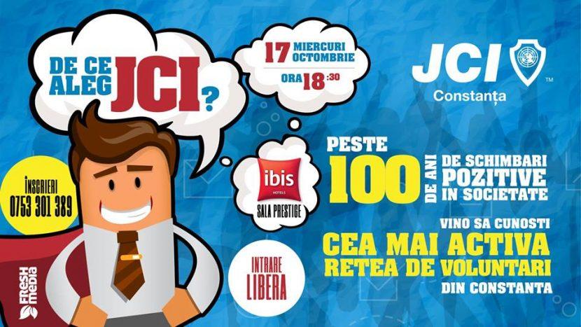 """JCI Constanța recrutează! Vino la evenimentul """"MEET JCI"""" pe 17 octombrie."""