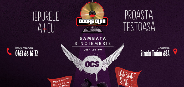 Concert și lansare de single OCS, la Club Doors