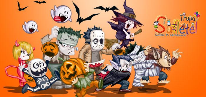 MONSTROTECA BUCLUCAȘĂ cu Trupa Suflețel de Halloween