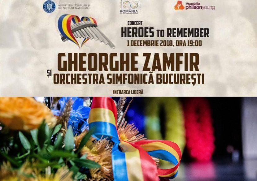 """""""Heroes to Remember"""" de Ziua României la Centrul """"Jean Constantin"""""""