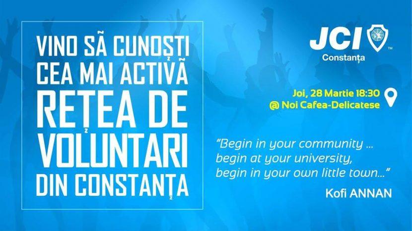 JCI Constanța recrutează voluntari! Vino să cunoști oportunitățile oferite!