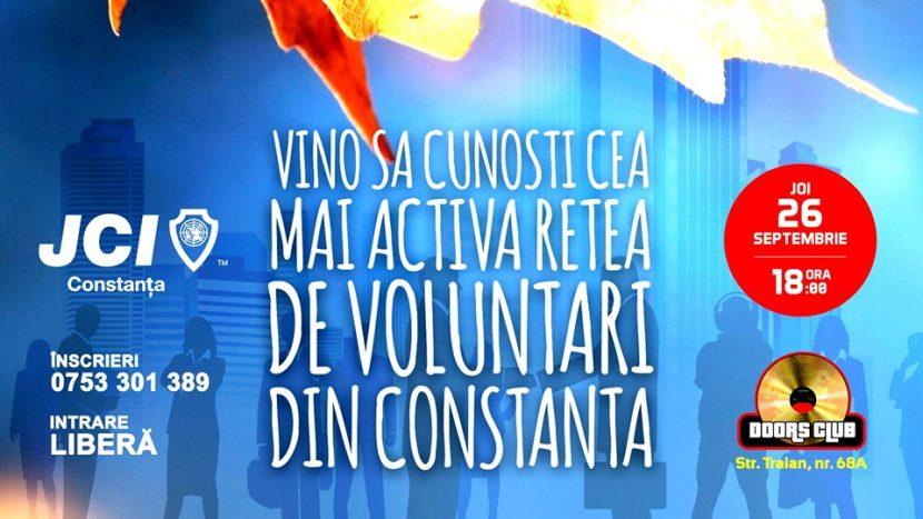 JCI Constanța recrutează tineri voluntari! Vino la evenimentul MEET JCI!